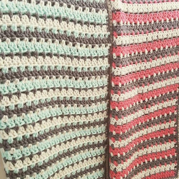 I am soooo loving these color combos that @jess_the_hooker used for my Sea Glass Afghan pattern!! Now I want to make another one!! ----- repost from @jess_the_hooker ・・・ both finished now and ready for the baby shower this weekend! Pattern by @petalstopicots #crochet #crochetblanket #crochetafghan #hookersgottahook #handmade #redheartyarn #redheartwithlove #crochetersofinstagram #instacrochet #babyblanket #crochetbabyblanket