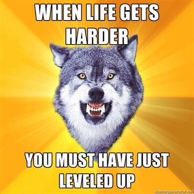 Great message, even though the Courage Wolf meme is creepy.