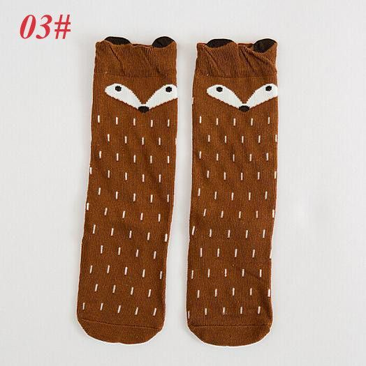 Baby Long Socks Kids Cartoon Baby Socks Animal Fox Warm Girls Socks for Newborn 100 Cotton Socks Kids Baby Winter Leg Warmers