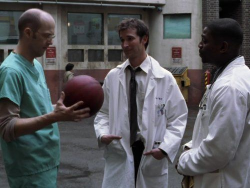 "Season 8 ( 2001-02) ""Orion in the Sky"" People: Anthony Edwards, Mekhi Phifer, Noah Wyle: Dr. Greene, Carter and Pratt. N. in series: 175 N. in Season: 18 Dir: Jonathan Kaplan Writ: David Zabel aired: 04/44/02 Us viewers: 28.510,000. This is Dr. Greene's farewell to his Emergency. Mark says to Carter here ""You set the tone"": was what was said to Dr Greene by Dr Morgenstern in the pilot episode. Dr Carter in turn would say the same thing to Dr Archie Morris in the last episode of E.R."