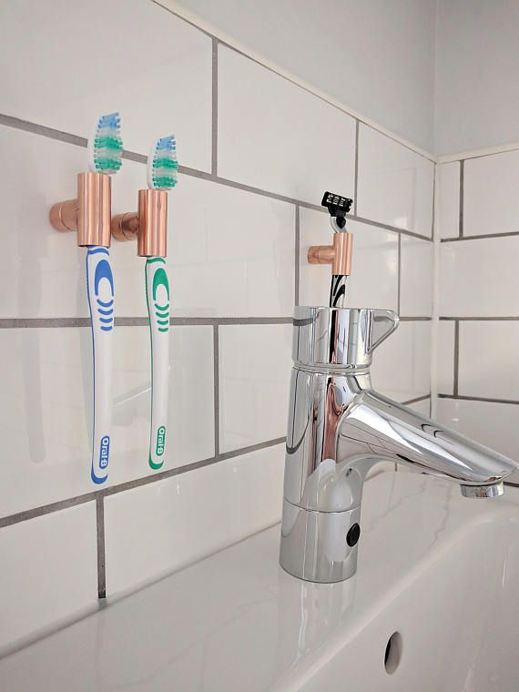 Copper Toothbrush Holder | Razor Holder | Bathroom Holder | Toothbrush Holder | Architectural | | Industrial Holder | Toothbrushes The Perfect Storage Solution For Your Toothbrushes And Shavers. Keep That Washbasin Clutter Free. Multiple Holders Can Be Mounted In A Row, Or In Any