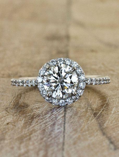 Unique Engagement Rings Ken & Dana Design - Charlotte top view