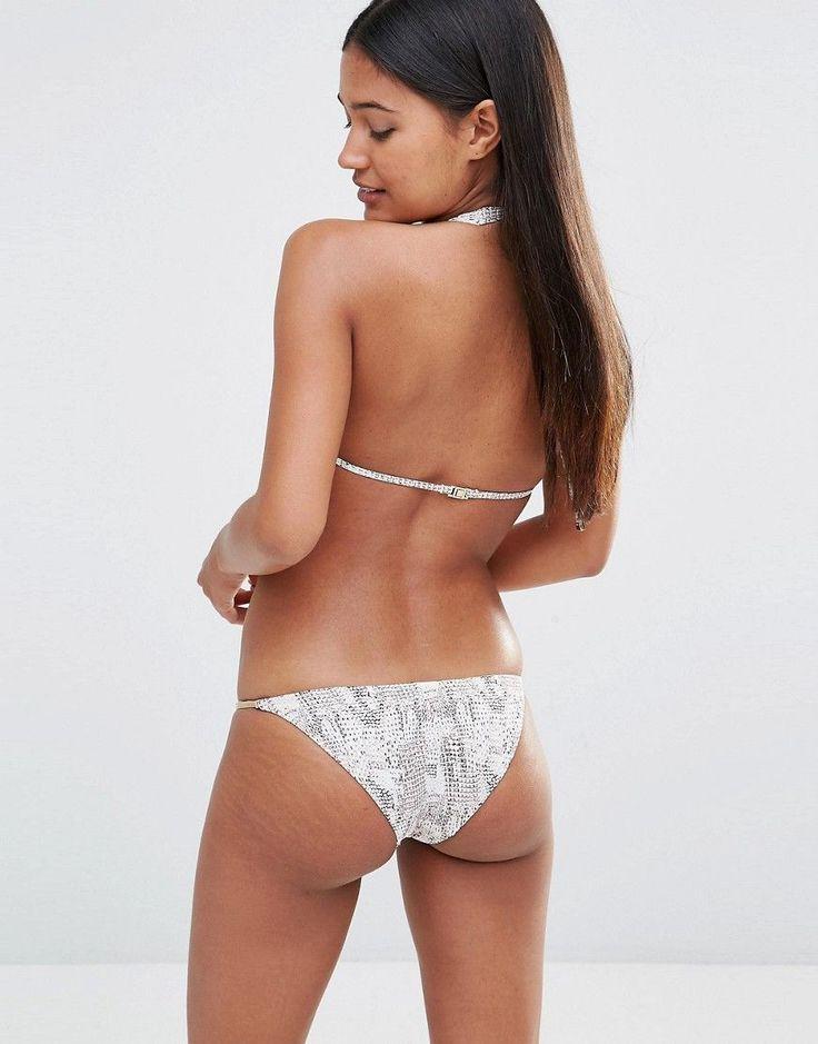 Heidi Klum Swim – Bikinihose mit Animal-Print – Multi