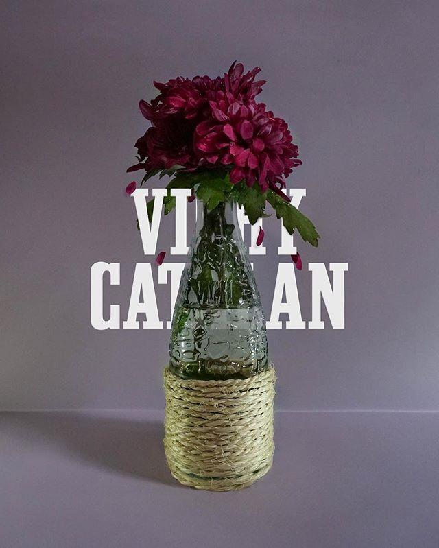 Jarrón de una botella reciclada de Vichy Catalan
