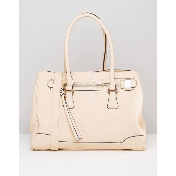 Aldo Tote Bag ($50) ❤ liked on Polyvore featuring bags, handbags, tote bags, white, handbags tote bags, zip top tote, tote bag purse, tote purses and aldo handbags