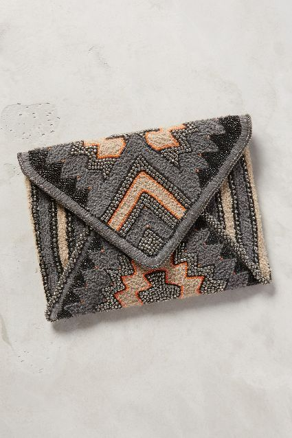 Seismic Beaded Clutch - anthropologie.com