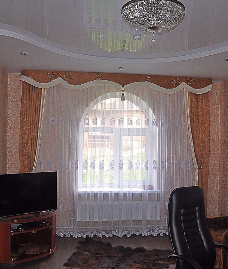 Элегантная модель штор в спальню.
