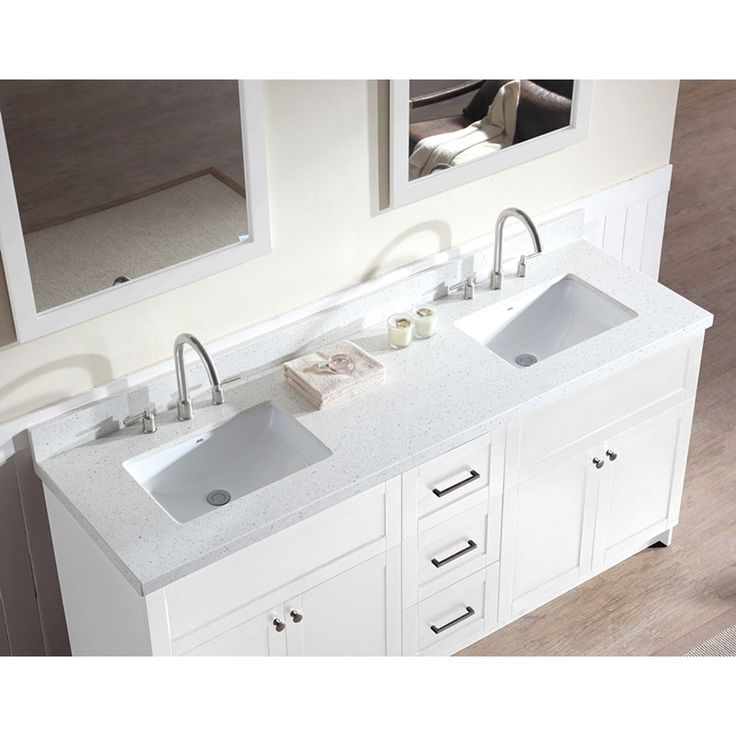 double sink vanity with top. Ariel Bath F073D WQ WHT Hamlet 73  Double Sink Vanity Set in White Best 25 sink vanity top ideas on Pinterest