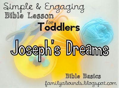 Toddler and Preschool Bible Lesson: Joseph's Dreams