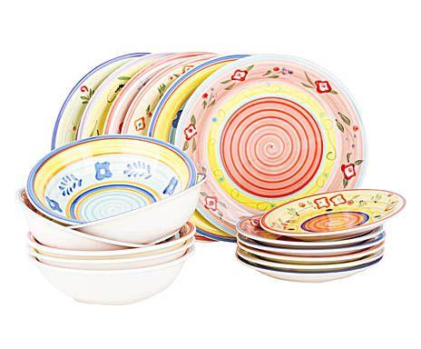 Servizio di piatti in gres maiorca - 18 pezzi