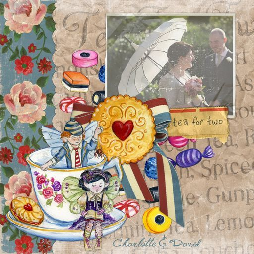 Charlotte T-M & hubby!  'WeddingScrapbook.craft, a project by CharlotteAnne'