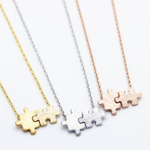 Puzzle pieces necklace – Imsmistyle.