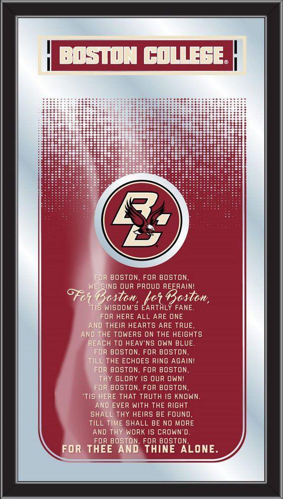 Fight Song Logo Mirror - Boston College Eagles