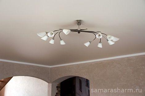 Самара Шарм   Натяжной потолок в гостиной.
