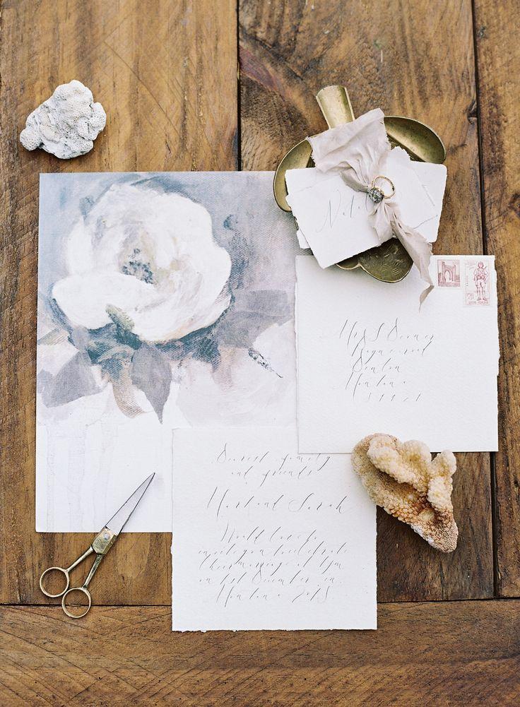 Black and Gold Hawaiian Beach Wedding Inspiration via Magnolia Rouge