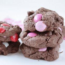 galletas de chocolate y M&M