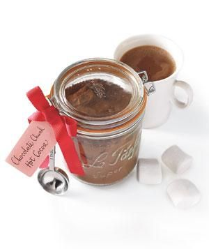 online apparel shopping sites india Chocolate Chunk Hot Cocoa Mix   14 Simple  Beautiful Homemade Holiday Gifts   RealSimple