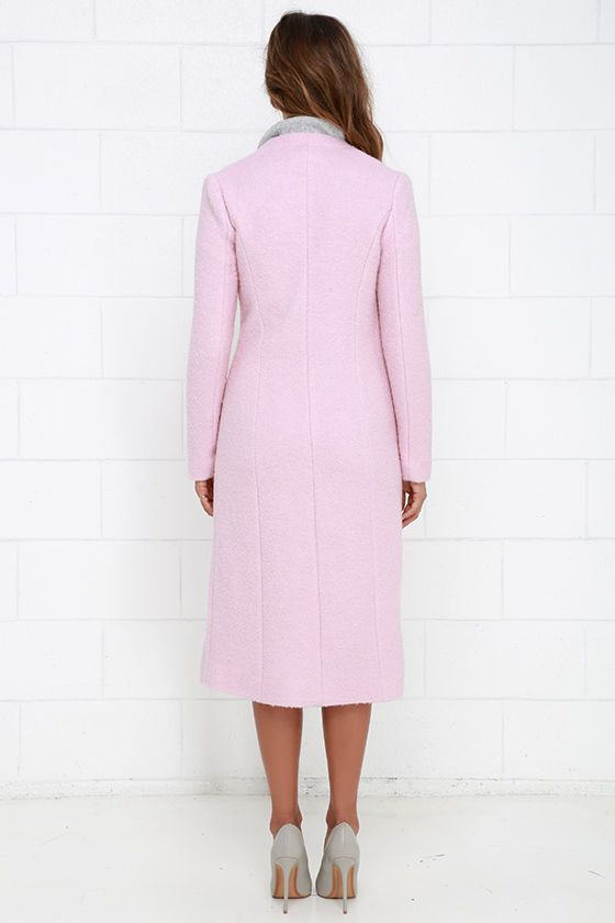 Streetlight Soiree Light Pink Coat - pretty pink coat, perfect with other neutrals