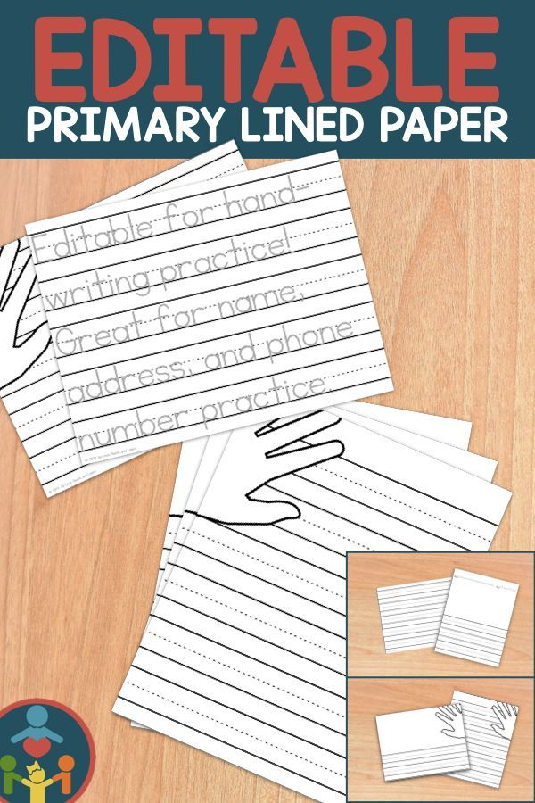 kindergarten primary lined paper   print
