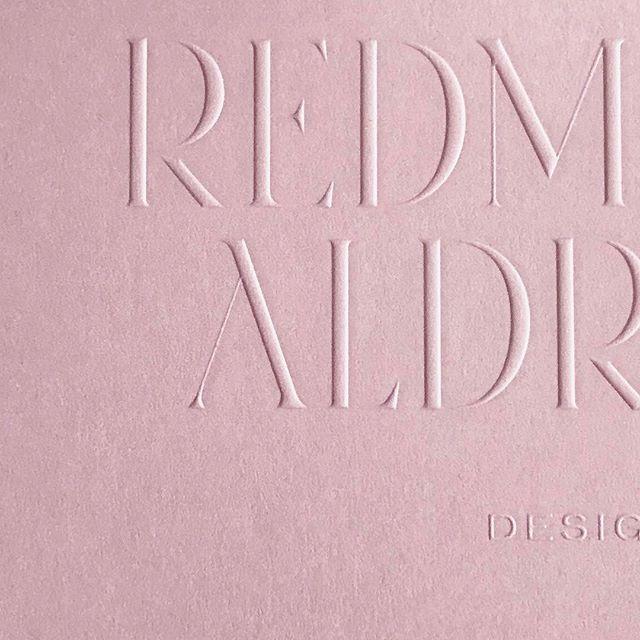 Elegant blind emboss on the most nuanced of pinks for @chloeredmondwarner printed by @coeurnoirspecialtyprinters