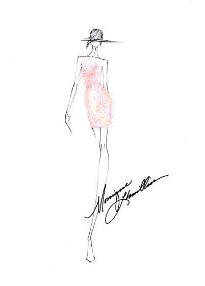 "Monique Lhuillier ""Euphoria""  SS 2011Monique Lhuillier, Fashion Sketches, Fashion Illustrationer, 100 Design, Lhuillier Sketches, Favourite Fashion Illustration, Lhuillier Fashion, Fashion Illustrations Sketches, Fashion Illustrationssketch"
