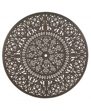 Hanamint Tuscany Cast Aluminum Table Top View Shown In