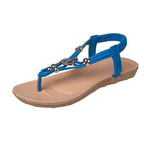 Oferta: 1.9€. Comprar Ofertas de Minetom Mujer Verano Sandalias De Playa Estilo Boho Chancletas T-Correas Sandalias Azul 40 barato. ¡Mira las ofertas!