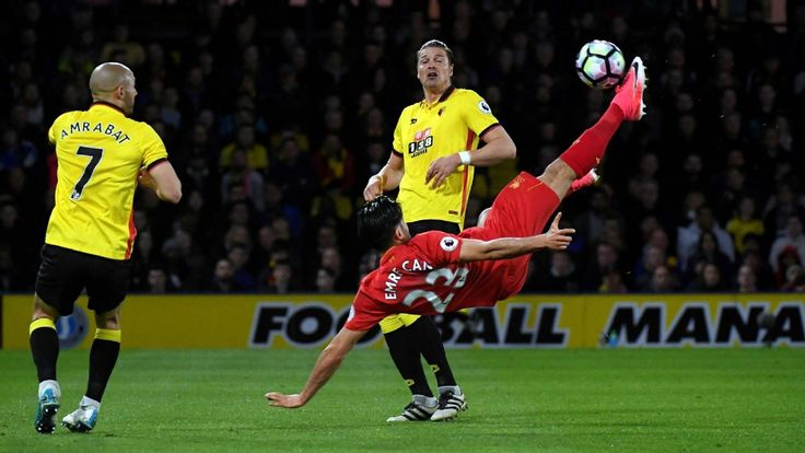 Was Emre Can's volley the best scored in the Premier League this season?