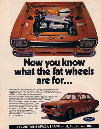 1971 Ford Mk1 Twin Cam Escort Ad | Flickr - Photo Sharing!