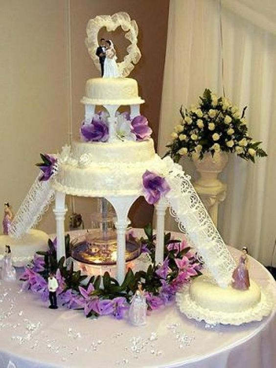 Wedding Cakes With Fountains And Stairs   Wedding Cakes With Fountains And Stairs  are  one of the best design option for your wed...