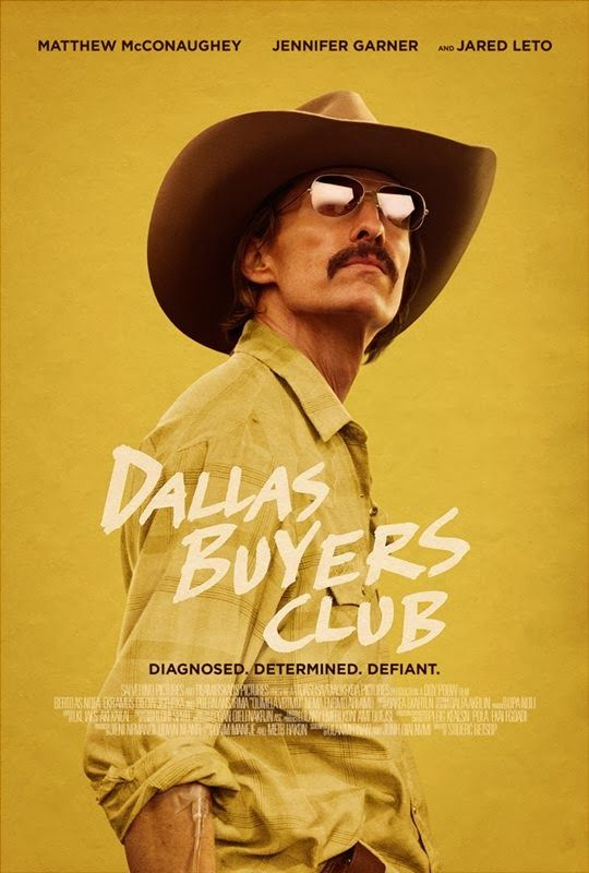 Dallas Buyers Club (2013) In 1985 Dallas, electrician and hustler Ron Woodroof works around the system to help AIDS patients get the medication they need after he is himself diagnosed with the disease.  Matthew McConaughey, Jennifer Garner, Jared Leto...TS Bio
