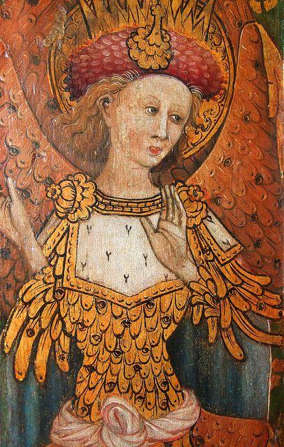 Cherubim (15th Century) -- St Michael, Barton Turf, Norfolk -- Cherubim from the Nine Orders of Angels sequence on the 15th Century rood screen at Barton Turf. -- http://www.norfolkchurches.co.uk/bartonturf/bartonturf.htm