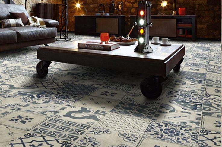 Parisian Chic Decor Mix Floor Tile 20x20cm - Parisian Chic - Vintage & Patterned - Tiles