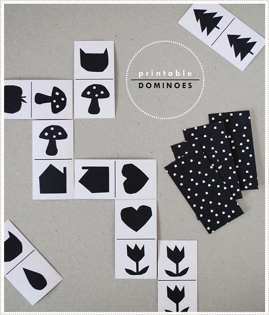 Printable dominoes by MerMag for HandmadeCharlotte