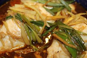 Chinese Style Steamed Tilapia Fillet     1 fish fillet (I used Tilapia)  1-1/2 tbsp. of light soy sauce  1 tsp. fish sauce  1-1/2 tbsp. of ...