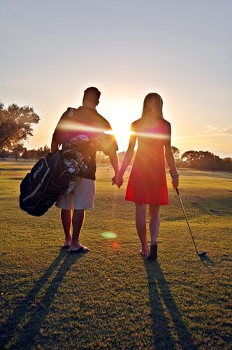 Golf Engagement Photos : )
