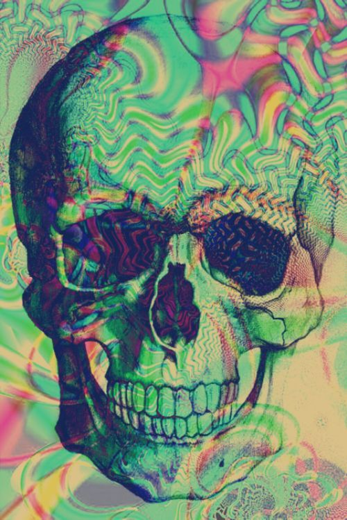 долго психоделическая картинка с черепом выбирать светлые