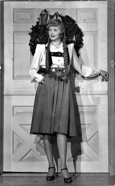 Five 40s Dresses That Capture The Era: Lucille Ball 40s Era Movie Star Photo Print Costume