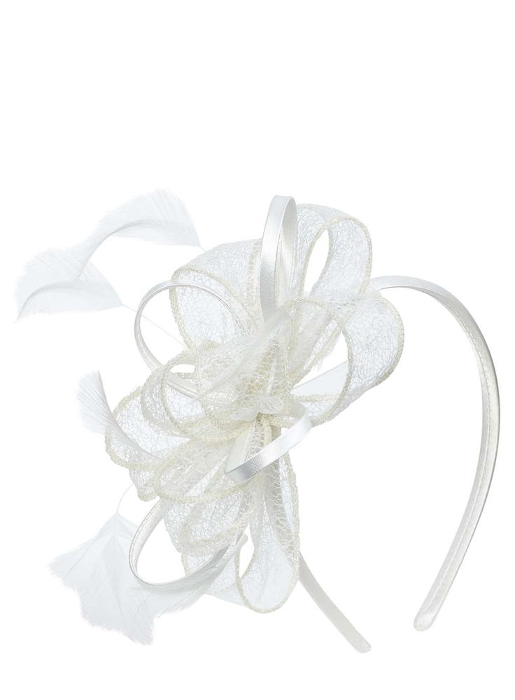Ivory Lacey Loop Headband Fascinator