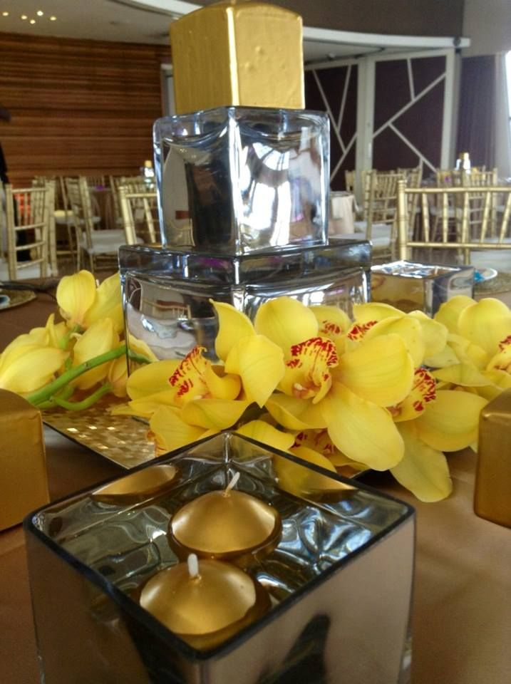 gold mayan theme event decor