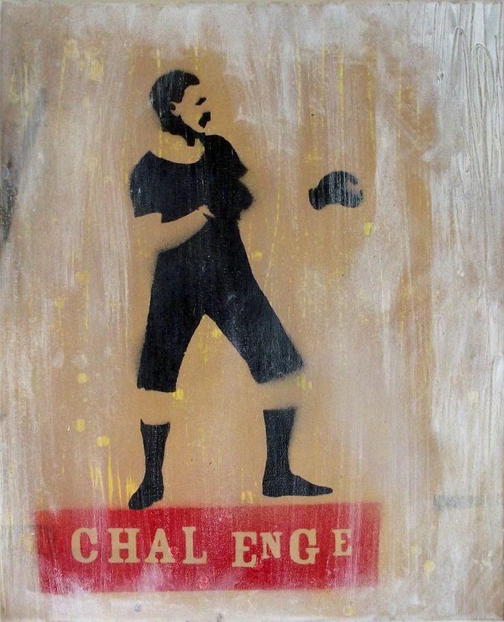 Boxer - Mr Pilgrim Graffiti Art of Canvas / Stencil art, canvas art, graffiti artist, art for sale / Available to buy art online at www.mrpilgrim.co.uk