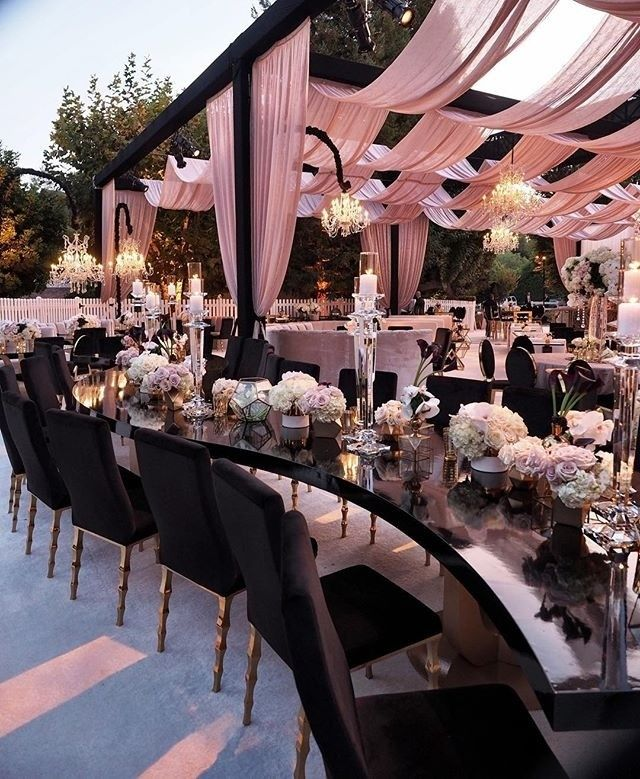 Black And Blush Wedding Decor For The Win Via Gellerevents