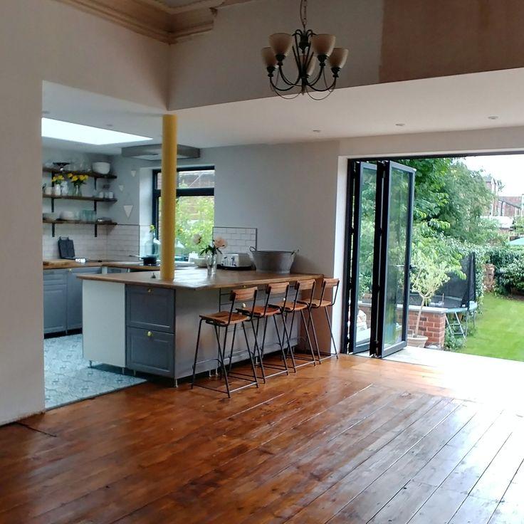 Top 25 best wooden bifold doors ideas on pinterest bi for Floor to ceiling folding glass doors