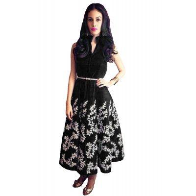 Ravishing Black Art Silk Kurti.