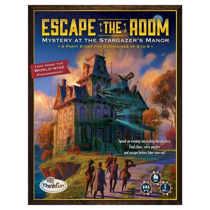 Escape the Room - The FIRST ever escape room in a box you can take home to play with your friends or family.