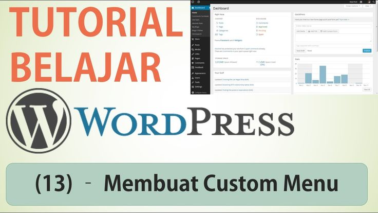 Belajar Wordpress - (13) Membuat Menu / Custom Menu