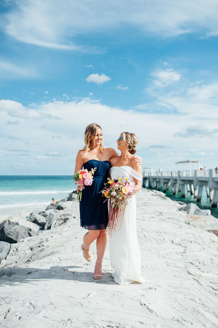 beach wedding in new jersey%0A Beach wedding photo idea  bride   bridesmaids pose in the sand  Photo by
