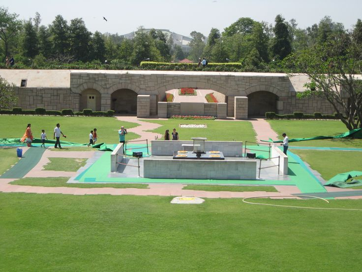 Gandhi's memorial. This is the site of his ghat (funeral pyre) in Delhi