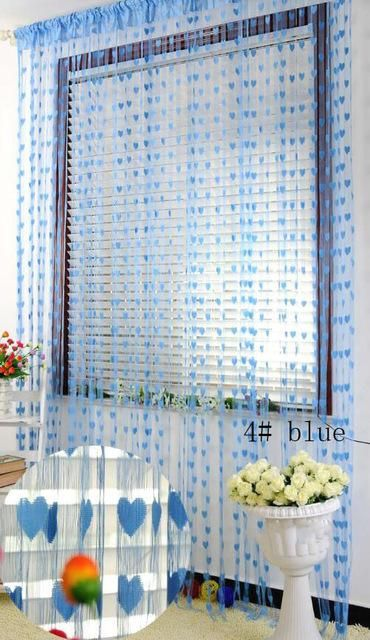 1*2meter heart String Tassel room door window curtain Divider for Birthday Wedding Party Decoration gift DIY background favor