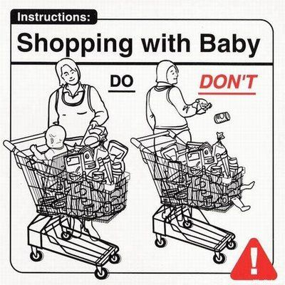 Don't put baby in the bottom of the shopping cart.